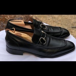 NW Gucci 🇮🇹 Horsebit Leather Loafers Sz 7.5-8